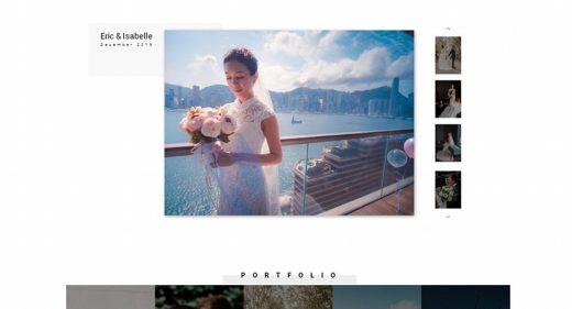 Photographer portfolio XD template