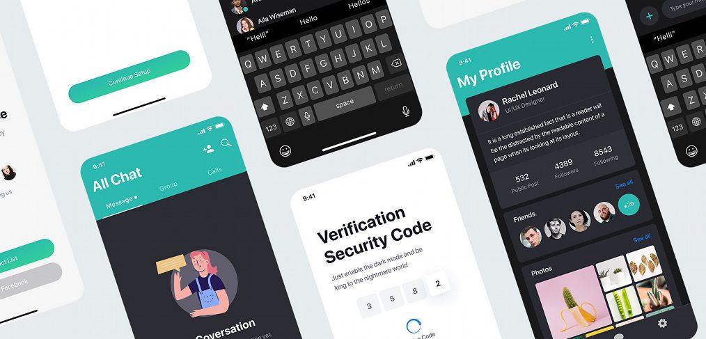 Sophie - Messaging XD UI kit demo