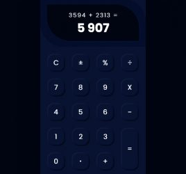 XD calculator interaction