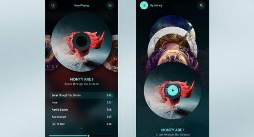 Adobe XD music app template