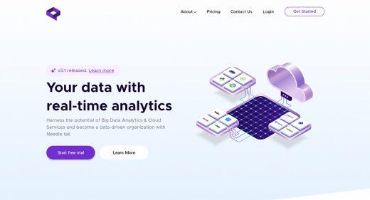 Analytics company XD website template