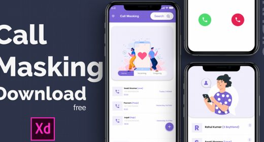 Free call making XD app template