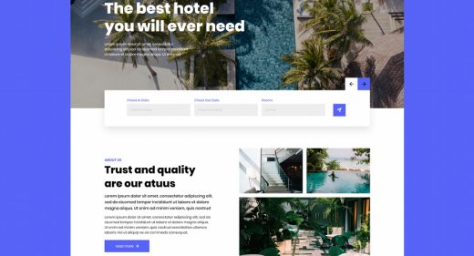 Hotel XD website template