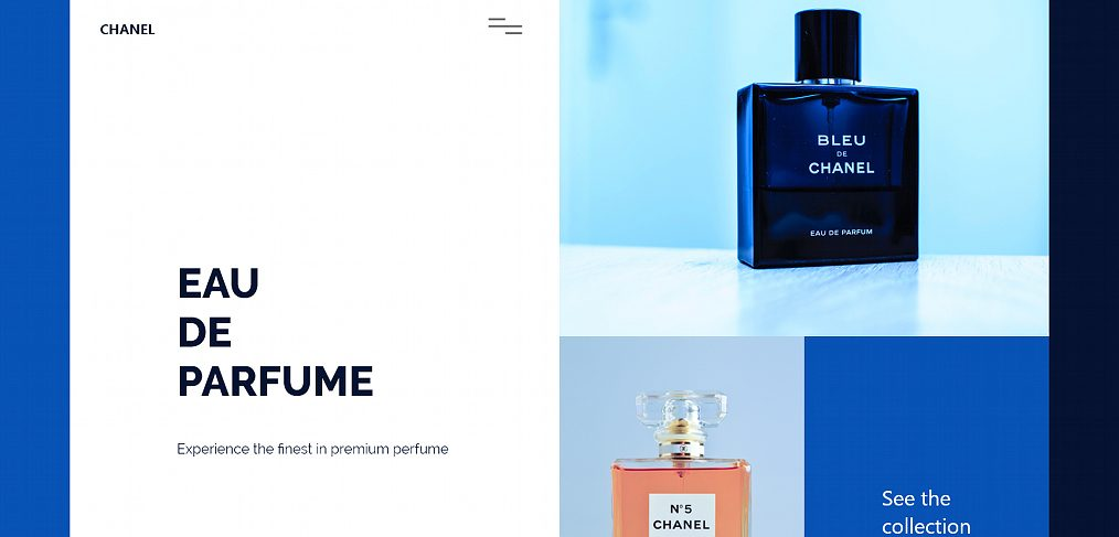 Perfume homepage concept