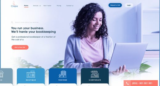 Accounting XD landing page concept