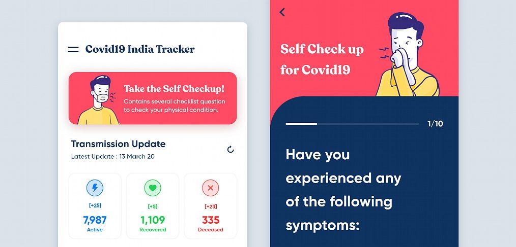 Covid19 India Tracker XD app