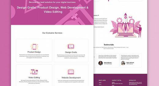 Digital agency homepage XD wireframe