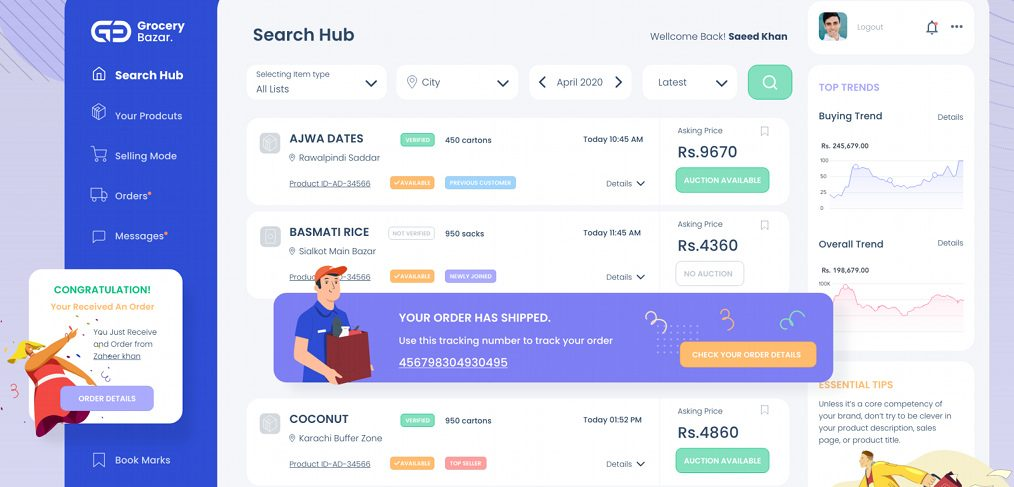 Ecommerce XD free dashboard template
