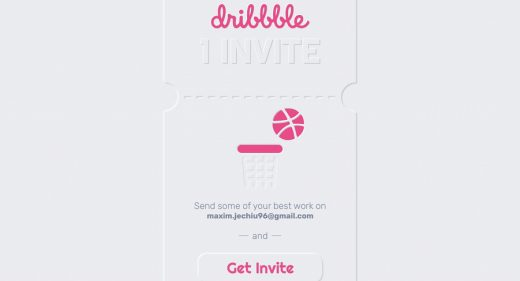 Free Dribbble invite XD shot