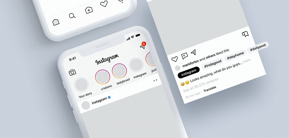 Instagram light XD redesign