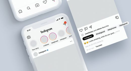Instagram light XD redesign