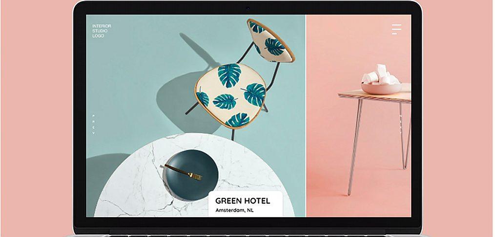 Interior design agency XD website