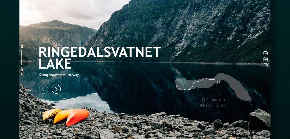 Kayak lake XD landing page