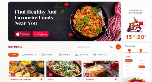 Kuk fresh food website template