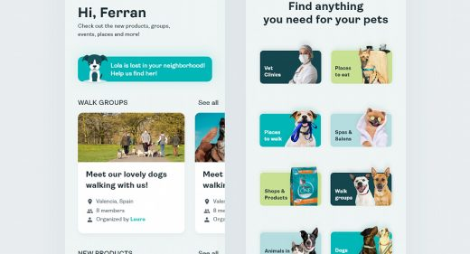 Pets care XD app template