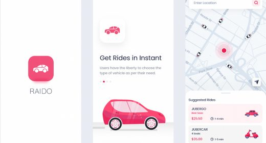 Raido - Ride sharing XD app