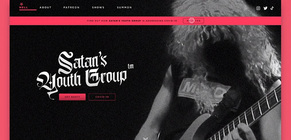 Rock band XD website template
