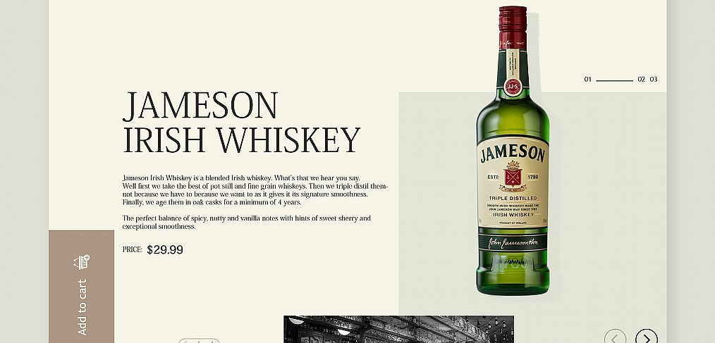 Whiskey XD website template