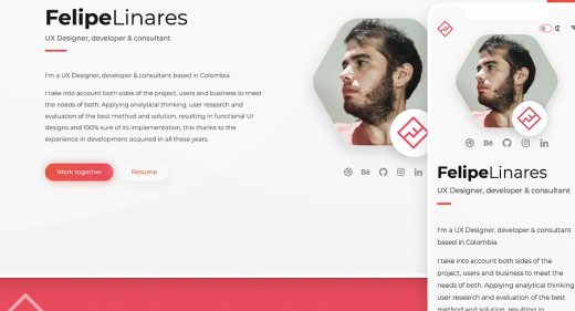 XD responsive portfolio template