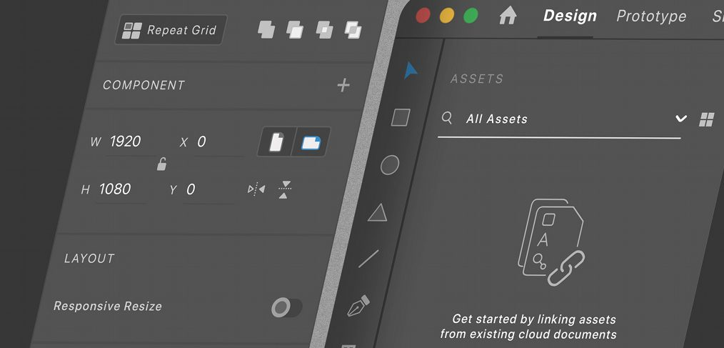 Adobe XD dark mode mockup