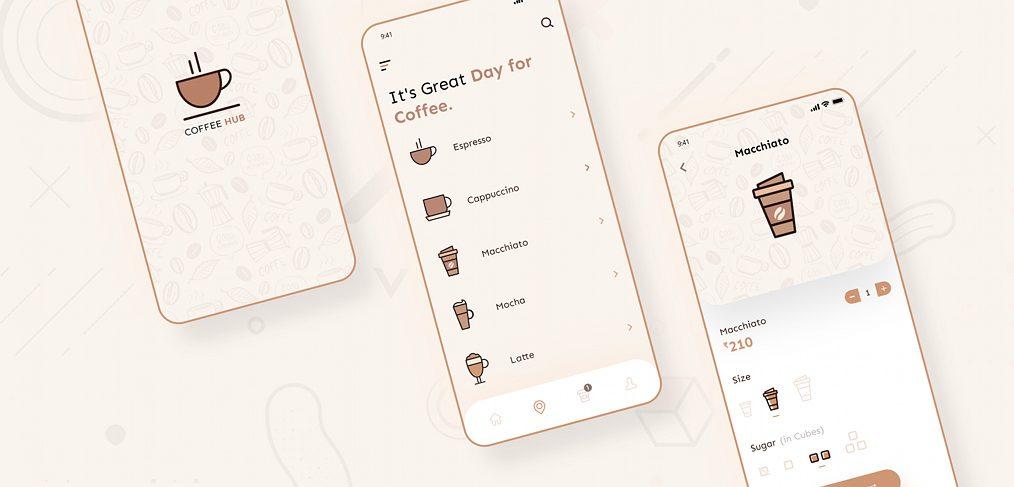 Coffee shop app XD concept