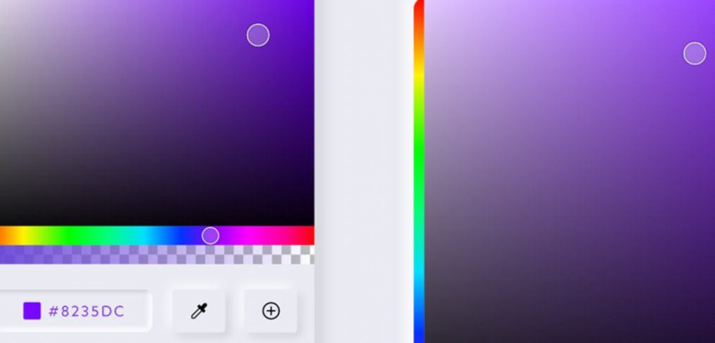 Color picker template done with XD