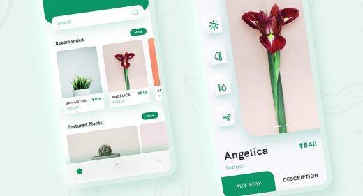 Plant shop mobile app concept