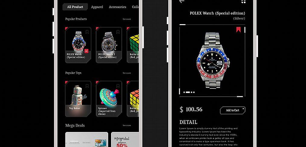 Watches ecommerce store template