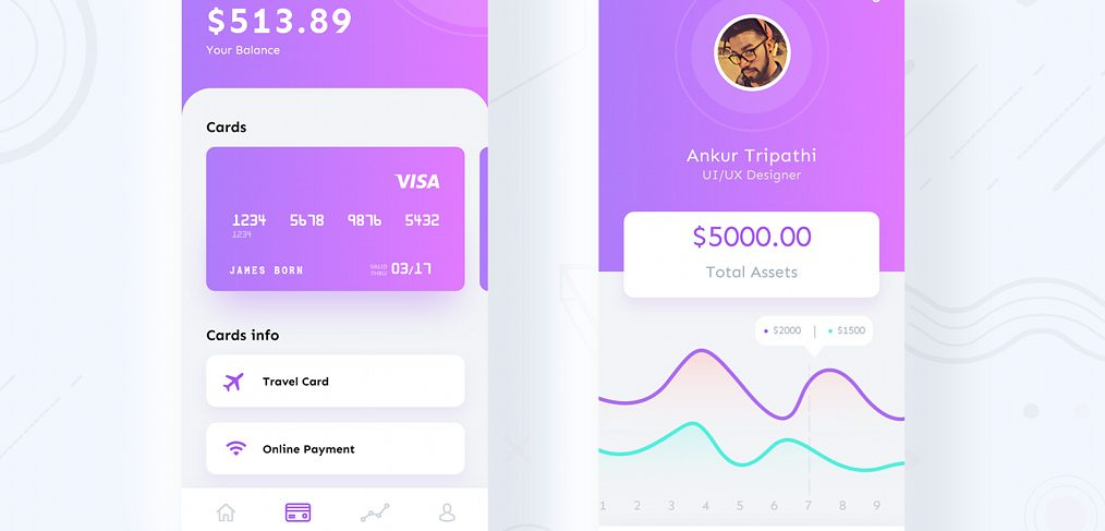 XD finance app freebie
