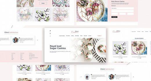 XD online cookies store concept