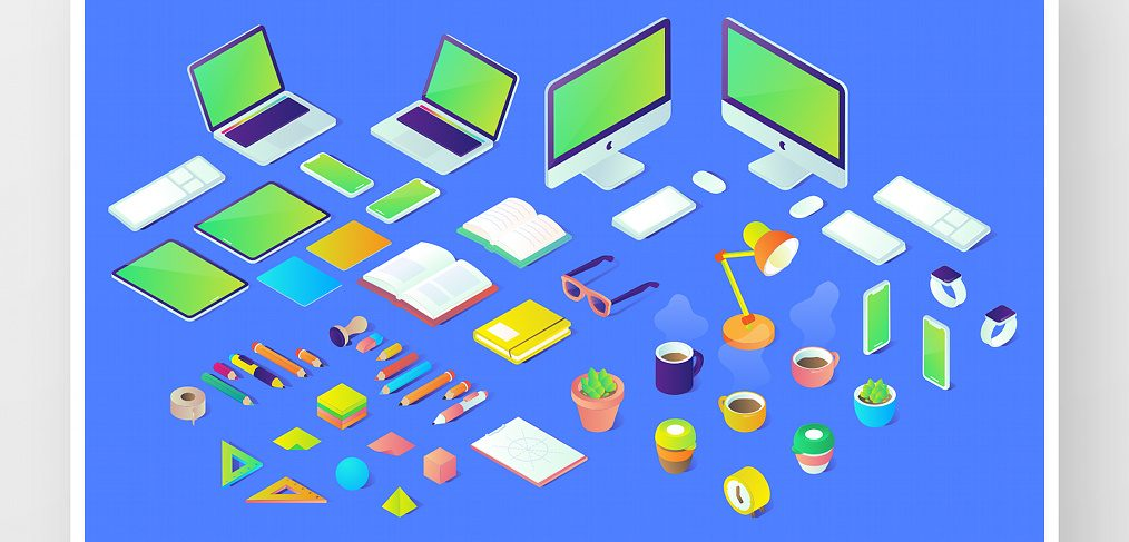 40 Free Isometric XD illustrations