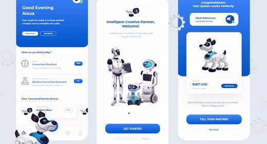 AI Remote app mobile XD template