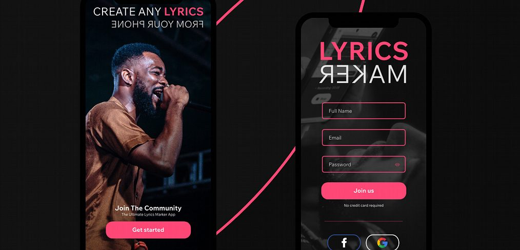 Lyrics maker free app concept