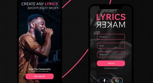 Lyrics maker free app concept