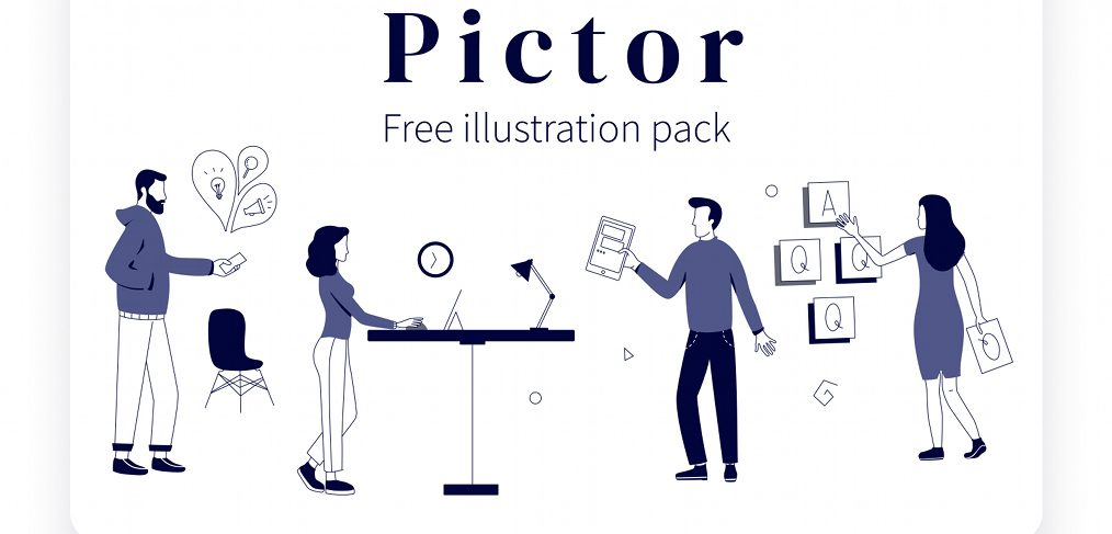 Pictor - Free XD illustration pack
