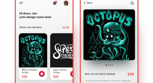 Tshirt Design Store XD App template