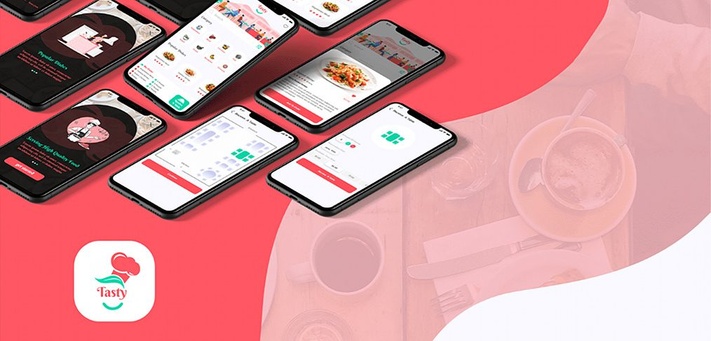 Restaurant booking app XD template