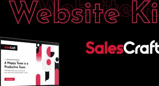 SalesCraft website template for XD