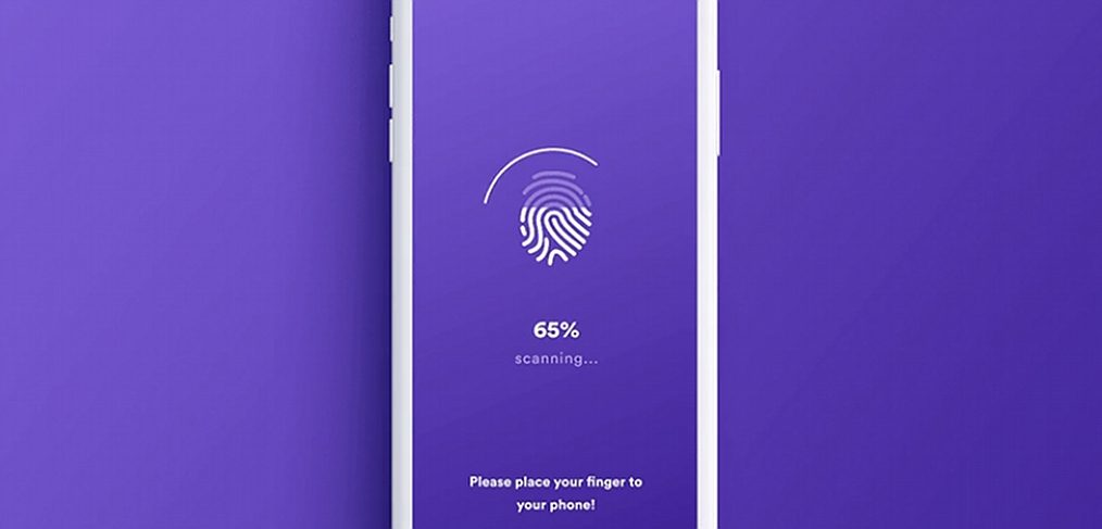 Touch ID fingerprint XD login animation