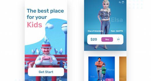 Toys app store concept