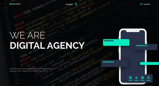 Digital Acency XD website template