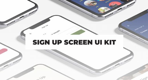 Free Sign up templates XD UI kit