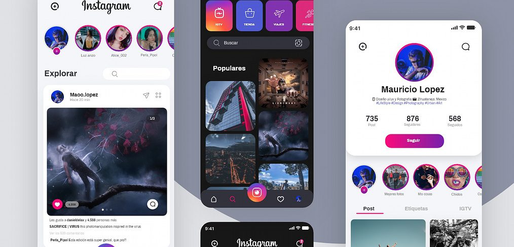Instagram Adobe XD redesign