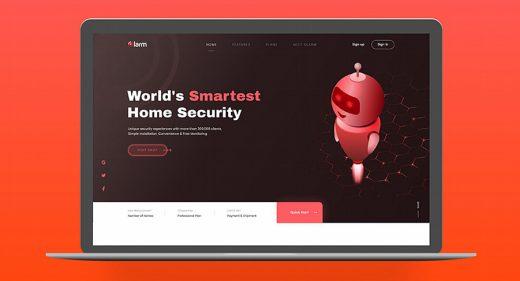Olarm XD website template