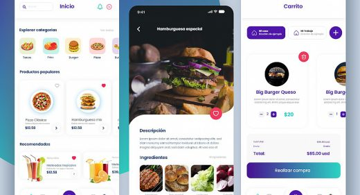 XD food delivery app concept