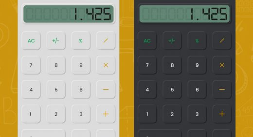Adobe XD calculator illustration