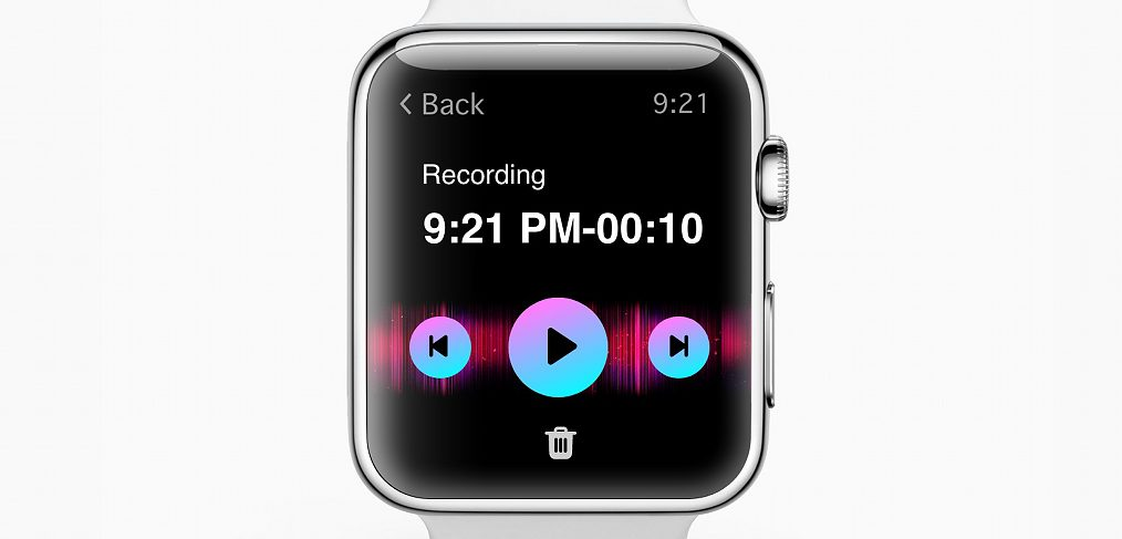 Apple Watch voice recording concept