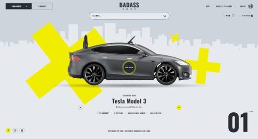 Badass - online shop XD template