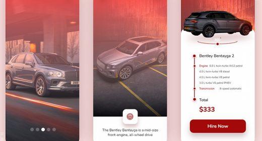 Car rental XD app template