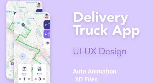Delivery truck app XD template